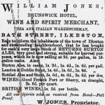 William Jones advertises in 1867