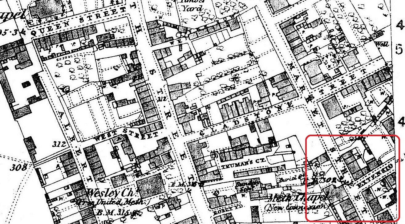 1881 map Extension St
