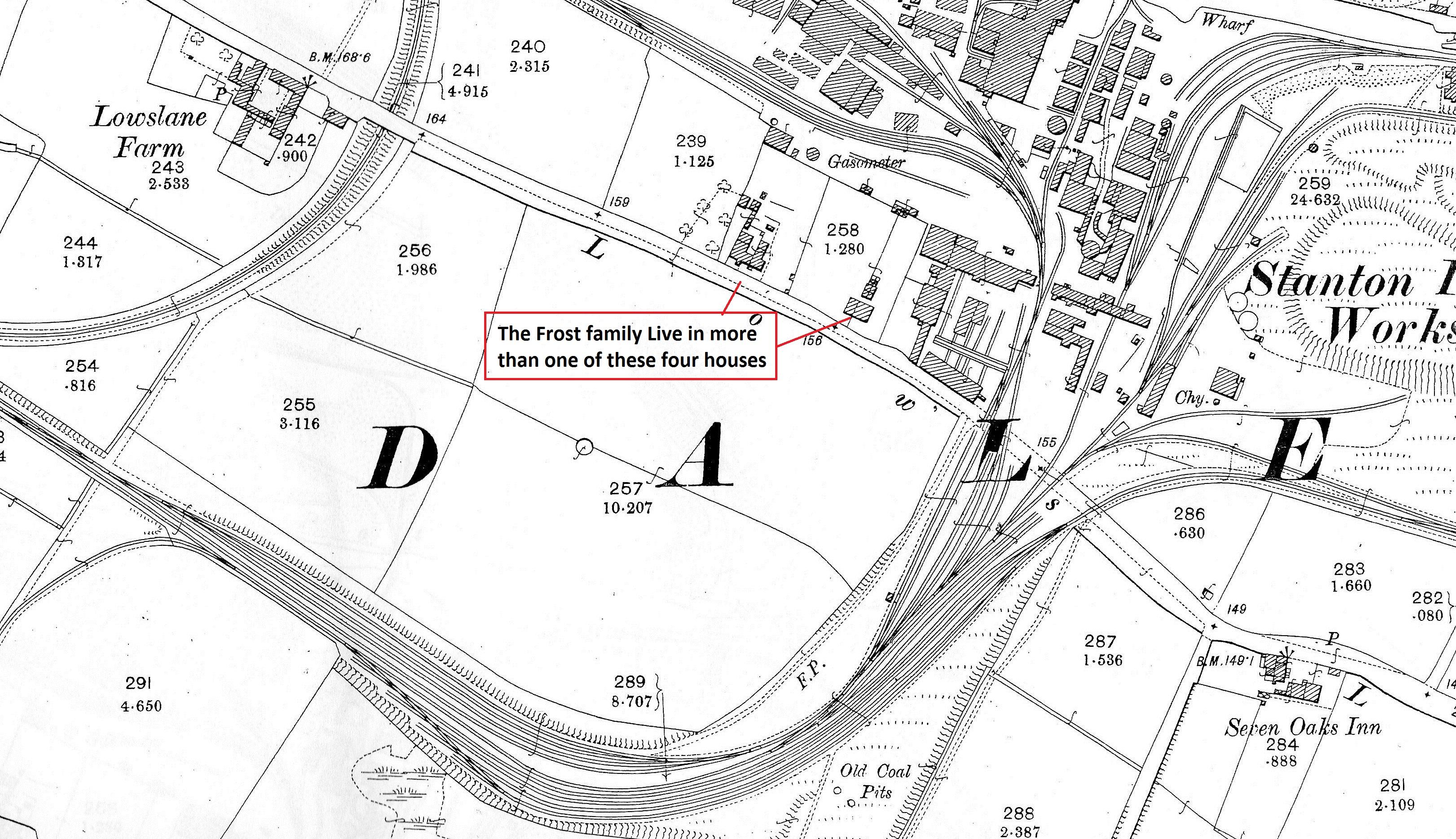 Lows Lane Map 1899