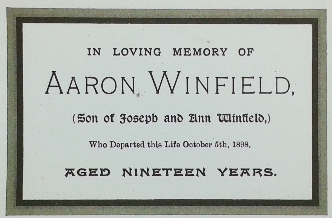 Aaron Winfield card 2