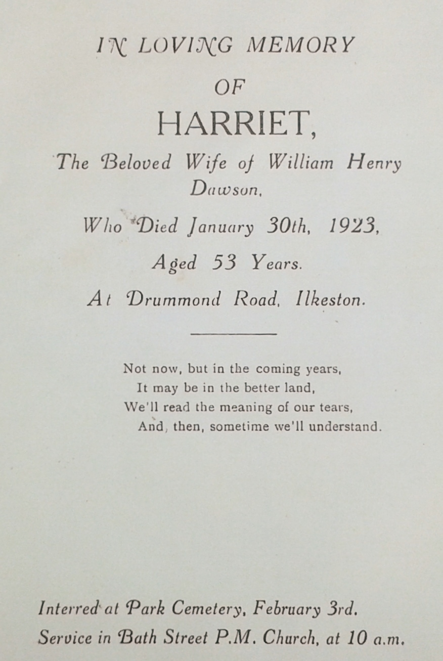 Harriet Dawson card 16