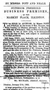 29 Premises for sale 1862