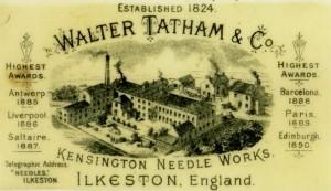 43 Tatham trade card c1890