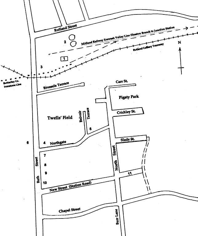 A map of lower Bath Street