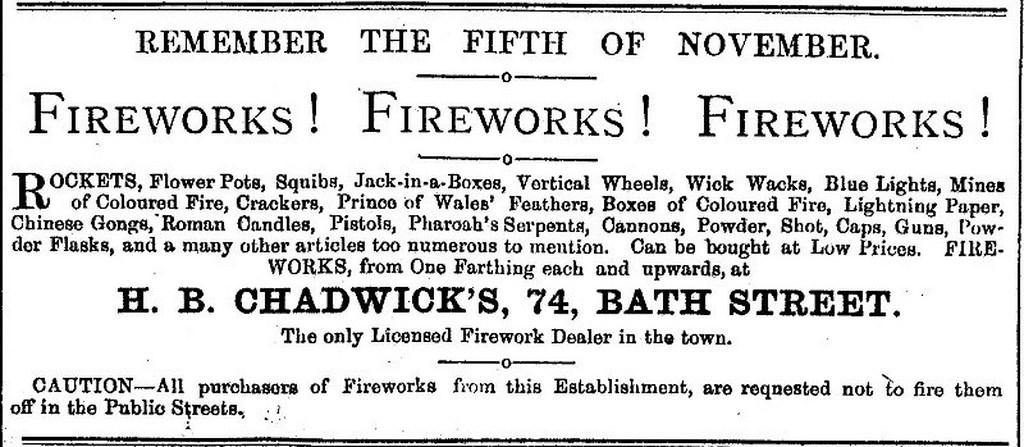 Bonfire Night in 1875
