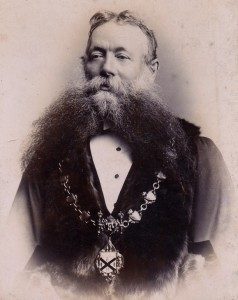 grocer William Wade as Mayor of Ilkeston 1888-1889