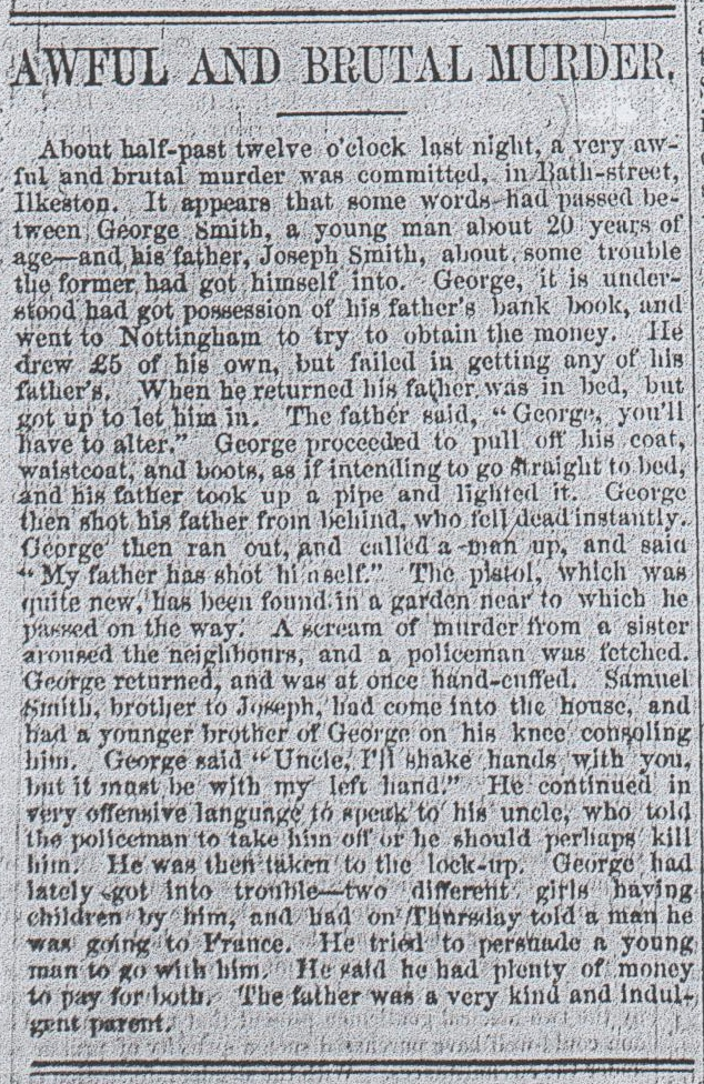 Ilkeston Leader and the Trial of George Smith