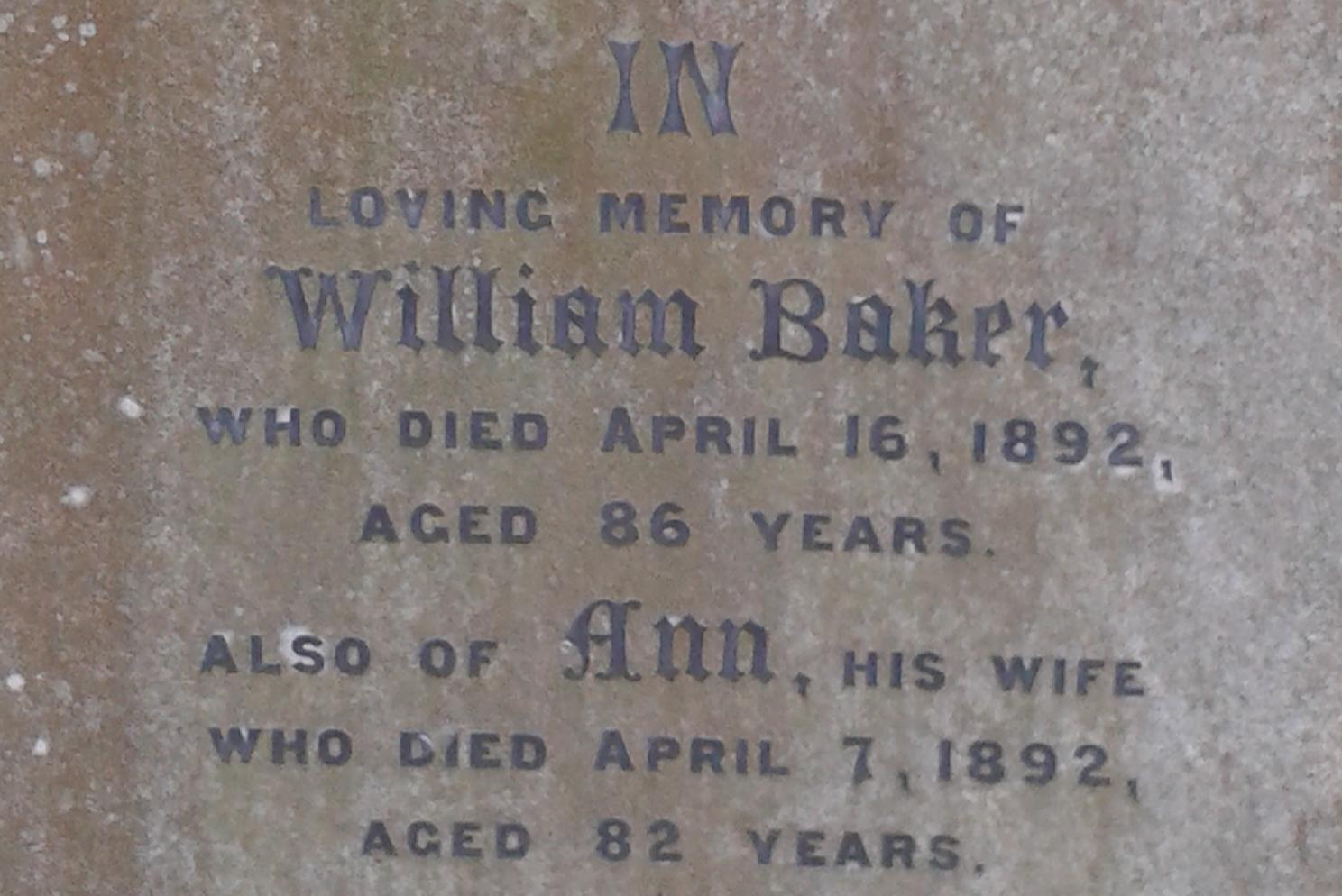 Baker grave