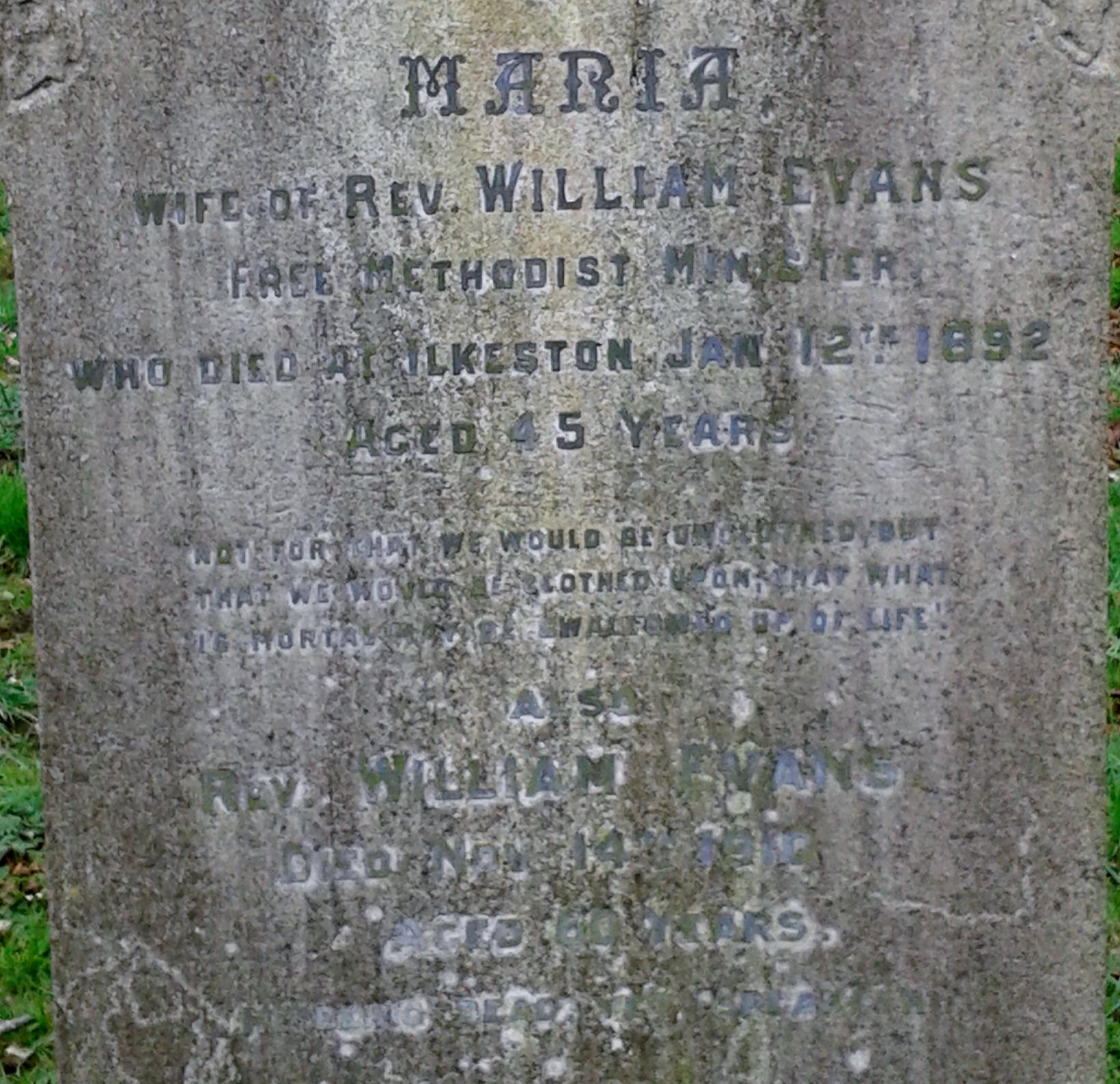 Evans grave
