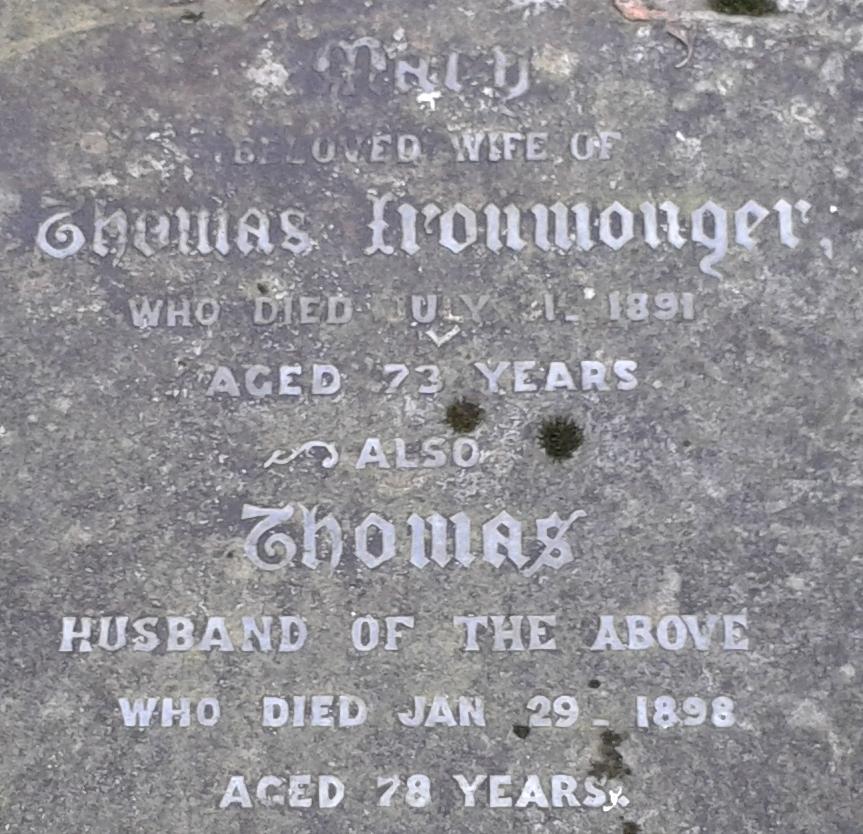 Ironmonger grave