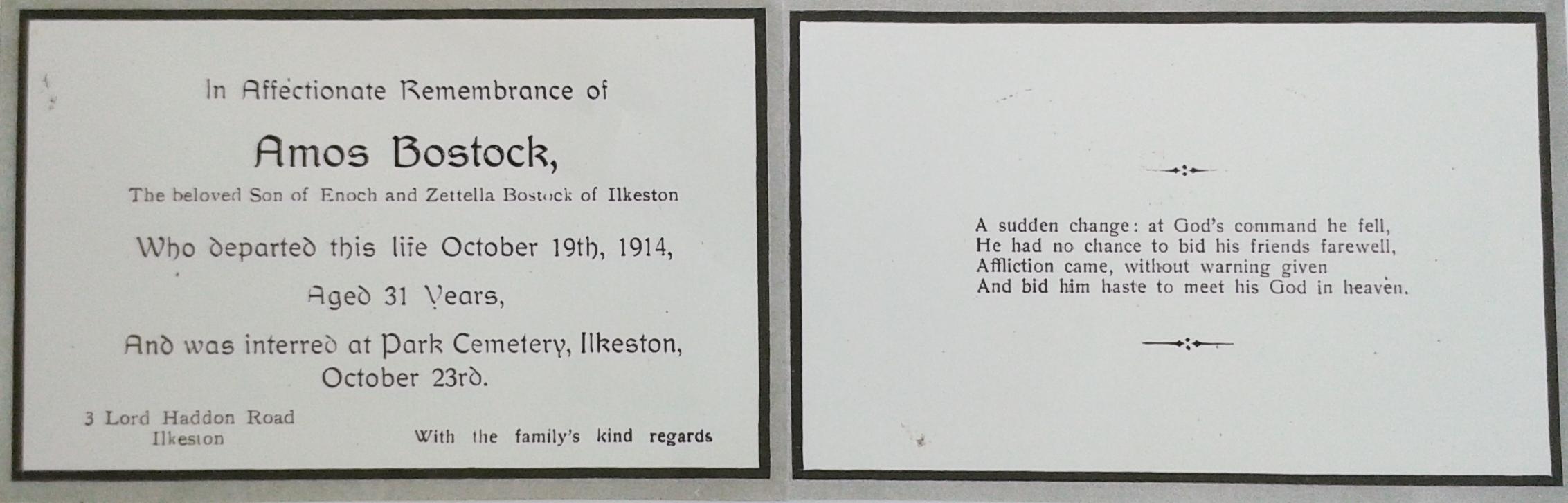 Amos Bostock card 13