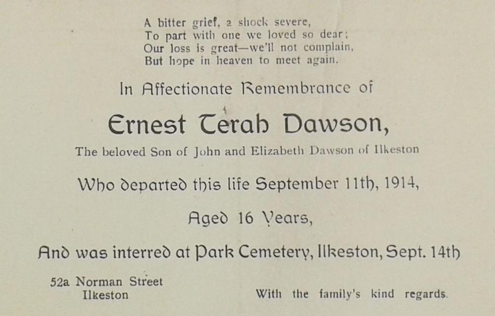 Ernest Dawson card 12