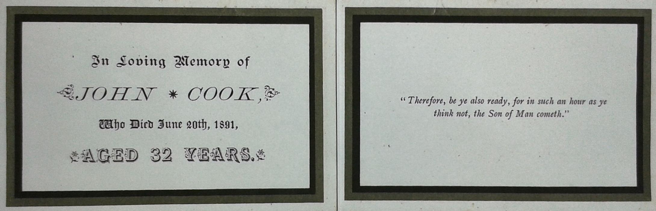 John Cook card 1