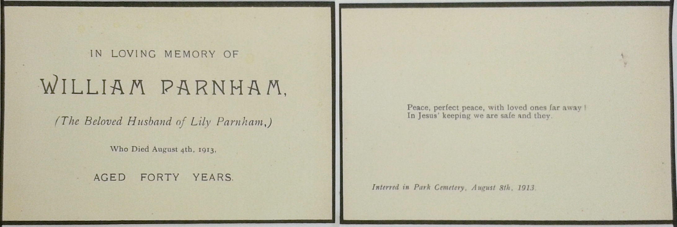 William Parnham card 10